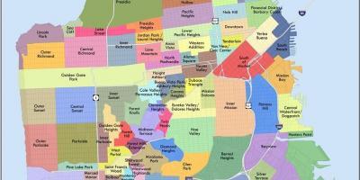 San Francisco Sf Silicon Valley Kartta Karttoja San
